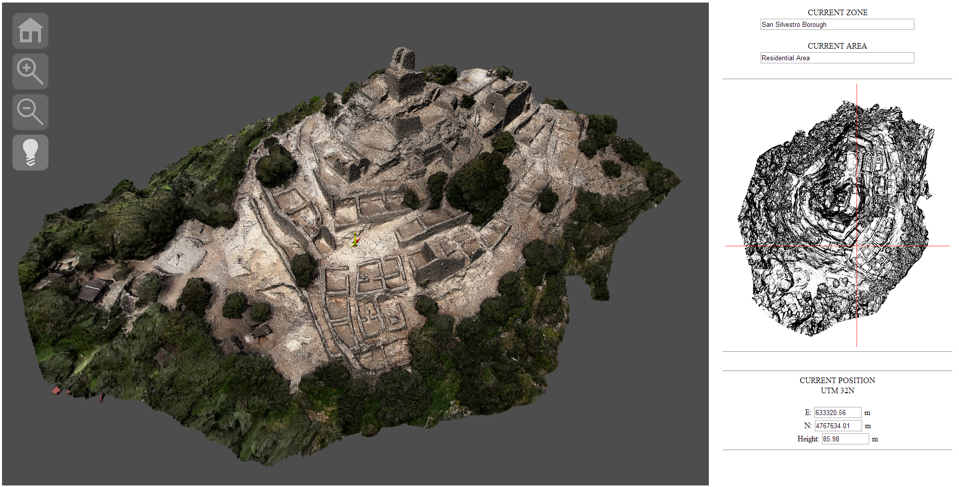 Remote visualization and navigation of 3d models of 3d model sites