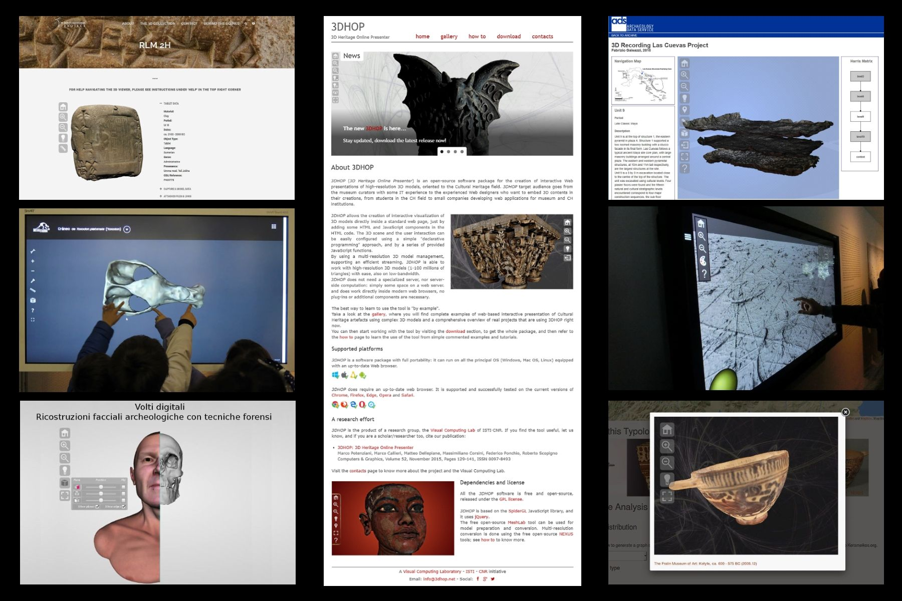 Developing and Maintaining a Web 3D Viewer for the CH
